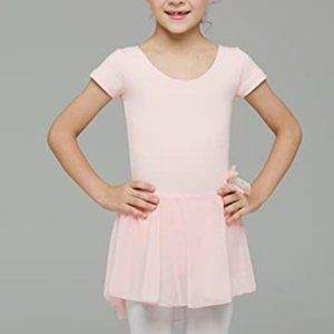 Ballerina Dance Short Sleeve Tutu Skirted